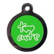 PS Pet Tags - Green Too Cute Dog ID Tag