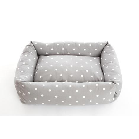 Dotty Smoke Lounge Dog Bed 4