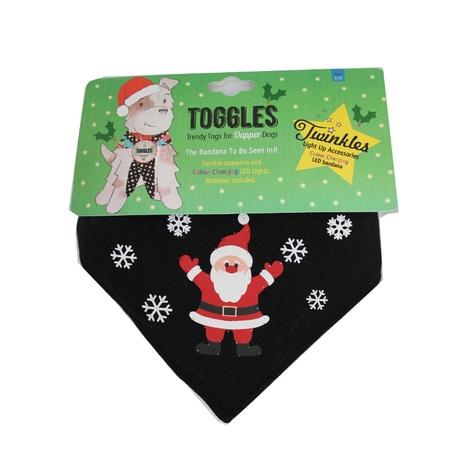 Toggles Twinkles Santa Claus Dog Bandana