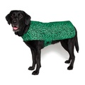 Personalised Green Leopard Print Dog Coat 5