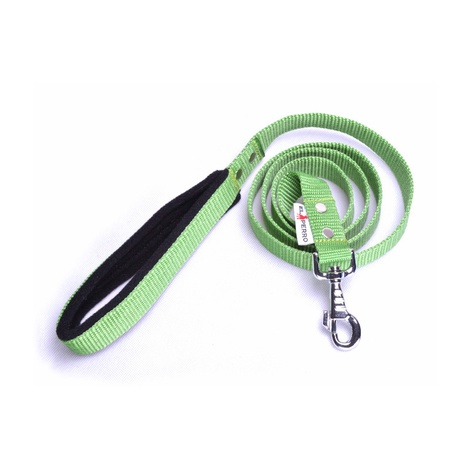 Fleece Comfort Dog Lead – Lime