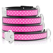 Cool Dog Club - Cool Dog K9 Striker MK2 Polka Dot Pink Dog Collar