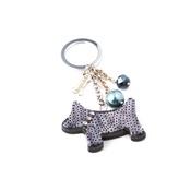 Dog & Dolls - Fortune Black Keychain