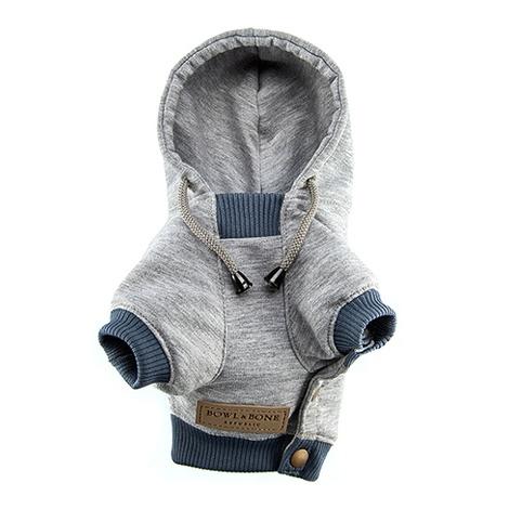 Grey YOLO Dog Hoodie 2