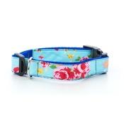 "Pet Pooch Boutique - Blue Vintage Collar  1"" Width"