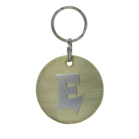 Alphabet Dog ID Tag - Plain silver on plain brass