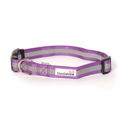 Doodlebone - Bold Reflective Dog Collar – Purple