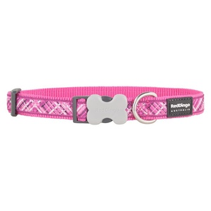 Flanno Dog Collar – Hot Pink