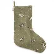 Mutts & Hounds - Green Linen Dog Stocking