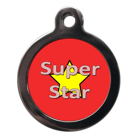 Superstar Dog ID Tag