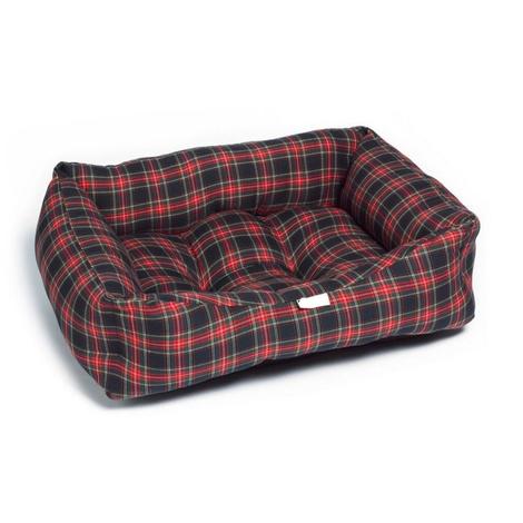 Red & Black Tartan Dog Bed
