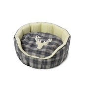 House of Paws - Stag Applique Oval Bed