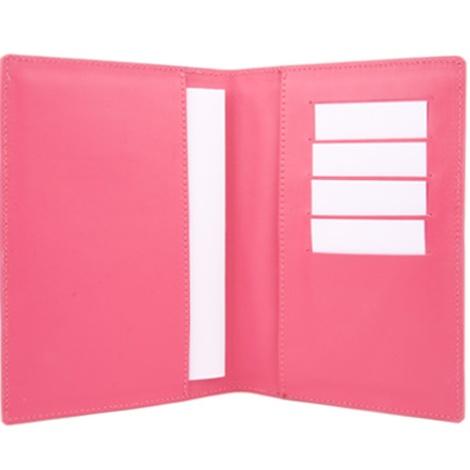 Leather Pet Passport - Bright Pink