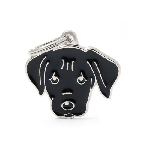 Labrador Engraved ID Tag – Black