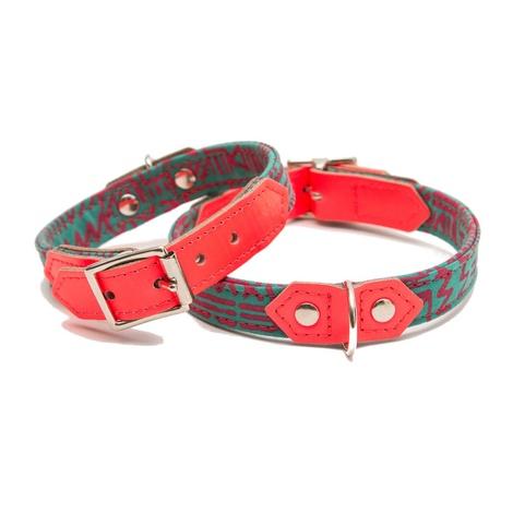 Kate Moross Neon Turquoise Classic Dog Collar