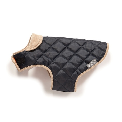 Quilted Dog Coat - Navy 2