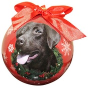 NFP - Chocolate Labrador Christmas Bauble