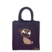 Poochini Pets - Mini Pug Bag - Black