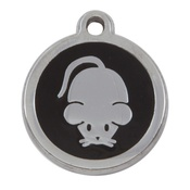 Tagiffany - My Sweetie Black Mouse Pet ID Tag