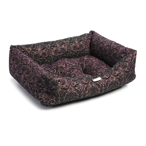 Light Purple Flock Dog Bed