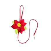 SR! Dog Accessories - Red Poinsetta Dog Lead
