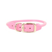 Auburn Leathercrafters - Rolled Leather Dog Collar – Pink