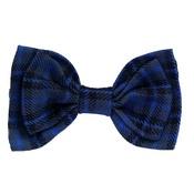 Love from Lola - Cat Collar Bow Accessory - Tartan Blue