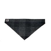 Cari & Co. - Check Harris Tweed Bandana - Grey