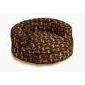Crypton Round Bolster Bed - Rotator Hot Chocolate