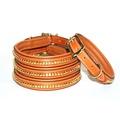 Clincher Leather Dog Collar - Tan