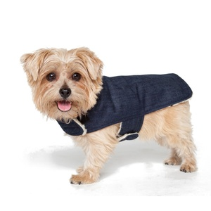 The ultimate hipster accessory, this denim coat is sure to turn heads and the Sherpa lining will keep your furry friend super snug.