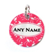 Ditsy Pet - Flamingo ID Tag