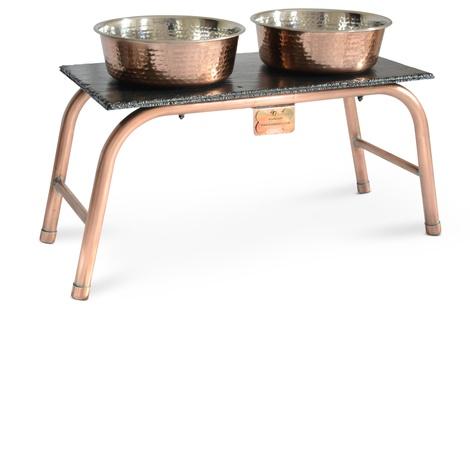 Copper & Slate feeding station 2