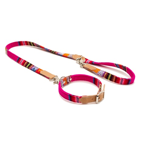 Pink INCA Cafe Dog Lead 3