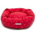 Cranberry Star Cotton Donut Bed 3