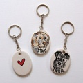 Personalised Portrait Keyring or Bag Charm 3