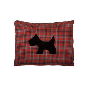Dog Doza Scottie - Black on Red Tartan