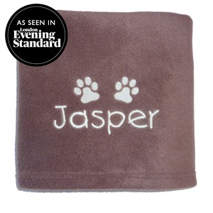Personalised Fleece Blanket - Milk Chocolate