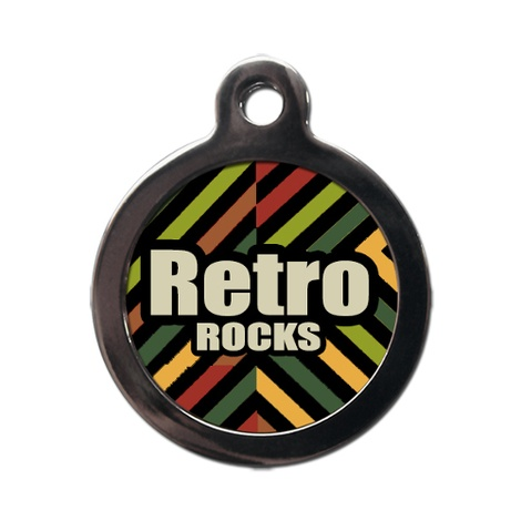 Retro Rock Pet ID Tag