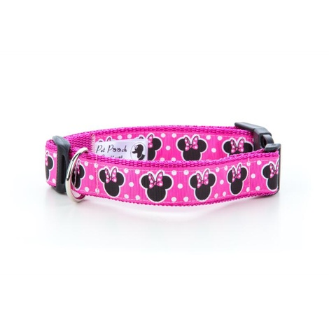 "Minnie Mouse Pink Dog Collar 1"" Width"