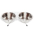 Double Pet Feeding Bowl