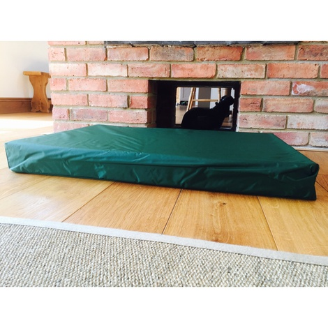 Memory Foam Corduroy Dog Bed – Olive 2