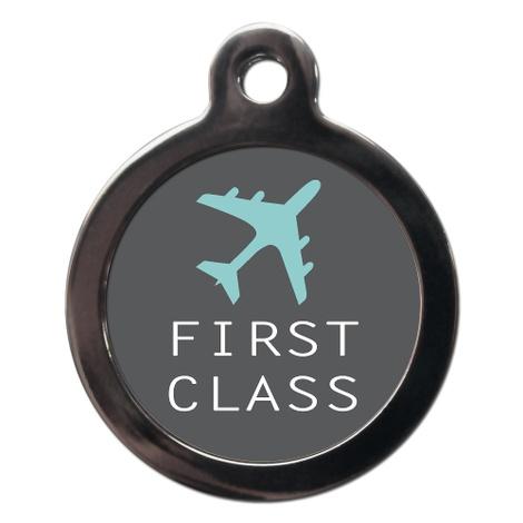 First Class Pattern Pet ID Tag