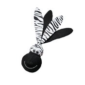 Kong - KONG Wubba Floppy Ears Dog Toy - Zebra