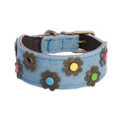DO&G - DO&G Boho Chic Dog Collar - Light Denim