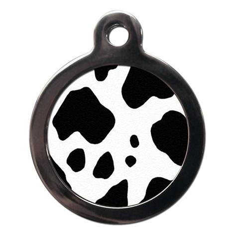 Cow Print Pet ID Tag