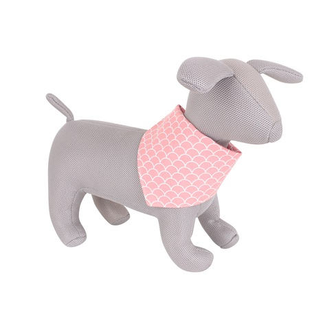 Pink Fans Art Deco neckerchief by Teddy Maximus