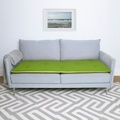 Wool Sofa Topper - Lime