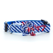 Pet Pooch Boutique - Anchors Away Collar with Flower Accessory