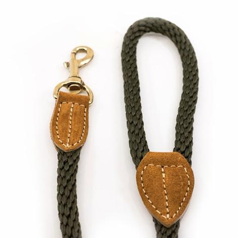 Rope lead (braided) - Khaki 2